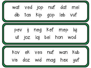 Nonsense Word Fluency Fans
