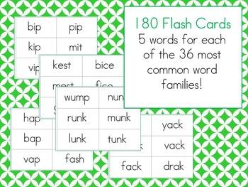 Nonsense Word Fluency Flash Card/ Pocket Chart BUNDLE