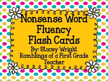 Nonsense Word Fluency Flash Cards