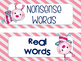 Nonsense Word Fluency Flashcards and Real Word Sort for Dibels - Valentine's Day