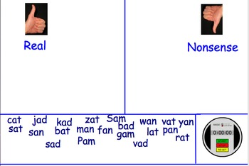 Nonsense Word Fluency Flipchart