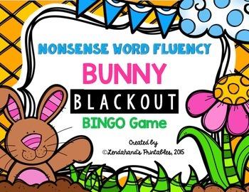 Spring Nonsense Word Fluency RTI Resource Blackout Bingo