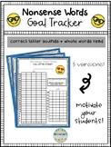Nonsense Word Fluency Goal Sheet