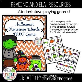 Nonsense Word Fluency - Halloween Theme
