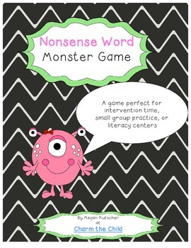 Nonsense Word Fluency Literacy Game