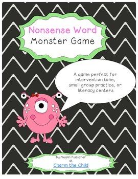 Nonsense Word Fluency Literacy Game