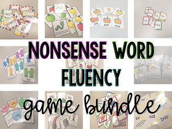 Nonsense Word Fluency Monthly Game Bundle