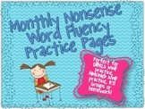 Nonsense Word Fluency Monthly Practice Pages {Perfect for RTI or Homework}