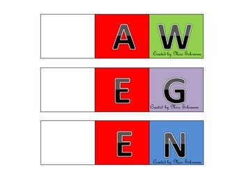 Nonsense Word Fluency Word Family Work Cards Game