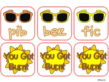 Nonsense Word Fluency (NWF) Game Summer Edition