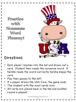 Nonsense Word Fluency - National Symbols