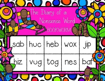 Nonsense Word Fluency Pack by Ms. Lendahand (Worm Theme)