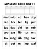 Nonsense Word Fluency Packet
