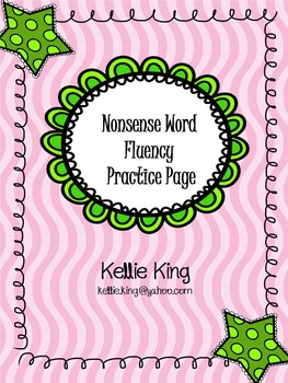 Nonsense Word Fluency Page