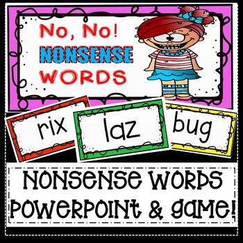 Nonsense Word Fluency Game