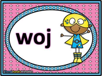 Nonsense Word Fluency Power Point (SUPER HERO Theme) by Mrs. Lendahand