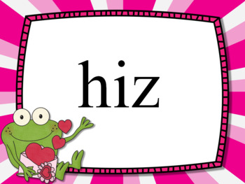 Nonsense Word Fluency Powerpoint for Dibels - Valentine's theme