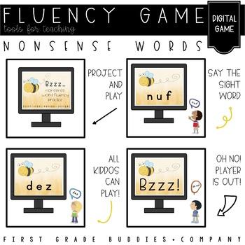 Nonsense Word Fluency Practice Games {Bzzzz!}