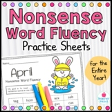 Nonsense Word Fluency Practice Work Sample {RTI Progress Monitoring}