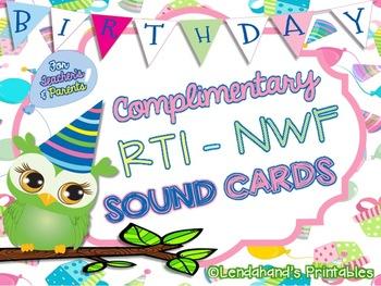 Birthday Nonsense Word Fluency R.T.I. BUNDLE