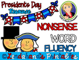Presidents' Day Nonsense Word Fluency R.T.I. Resource Pack