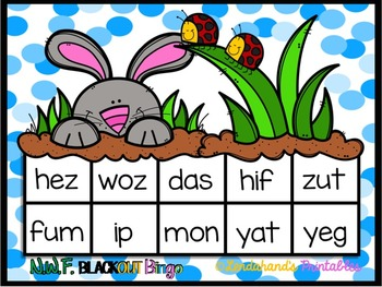 Spring Nonsense Word Fluency R.T.I. Pack (Bunny with Ladybugs Theme)