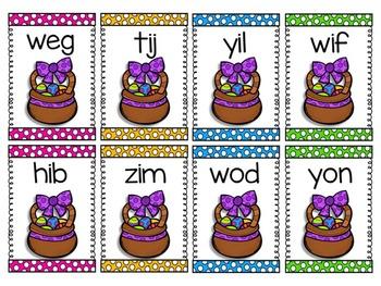 Nonsense Word Fluency R.T.I. Pack by Ms. Lendahand (Easter Theme)