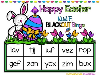Easter Nonsense Word Fluency R.T.I. Resource Pack