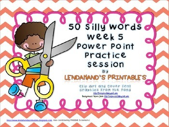 Nonsense Word Fluency Powerpoint by Ms. Lendahand (Set 5)