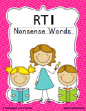 Nonsense Word Fluency Response to Intervention Kit