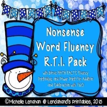 Winter Nonsense Word Fluency R.T.I. Resource Pack (Snowman Theme)