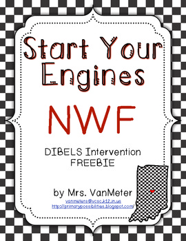 Nonsense Word Fluency (Race Car Theme) Freebie