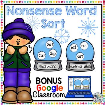Nonsense Word Fluency with  BONUS Google Classroom