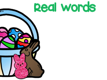 Nonsense Word Fluency -Easter/Spring Edition