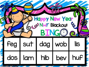 New Year's Nonsense Word Fluency R.T.I. Resource Pack