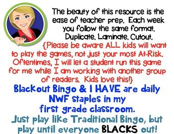 Read Across America R.T.I. Nonsense Word Fluency  Resource Pack