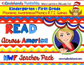 Nonsense Word Fluency  Teacher Pack for READ ACROSS AMERIC