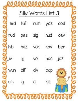 Nonsense Word Fluency- Under the Big Top