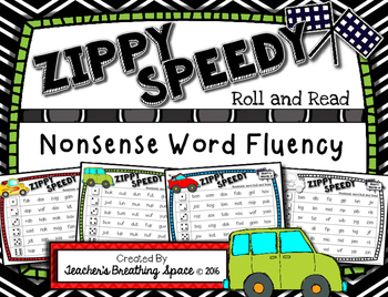 Nonsense Words  --- Zippy Speedy Roll And Read --- Nonsense Word Fluency Game