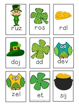 Nonsense Word Fluency with Lucky the Leprechaun St.Patrick's Day
