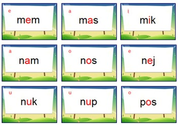 Phonics Game: Nonsense Words Fluency - {CHANGE Card Game} - Covers CVCs