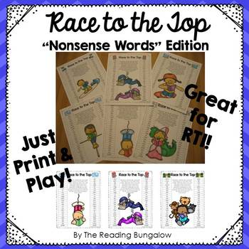 Nonsense Word Game Boards {Great for DIBELS!}