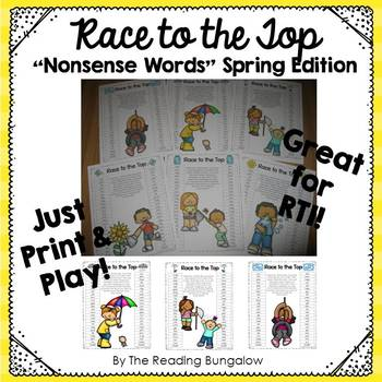Nonsense Word Game Boards for Spring {RTI and DIBELS}