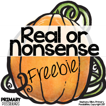 Nonsense Word Game- Pumpkins