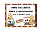 Nonsense Word Game: Real vs Nonsense/ Turkey Theme