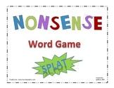 """Nonsense Word Game """"SPLAT"""""""