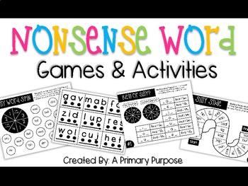 Nonsense Word Games & Activities
