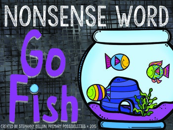 Nonsense Word Go Fish Freebie!