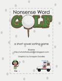 Nonsense Word Golf {A Short Vowel Word Sort Game}