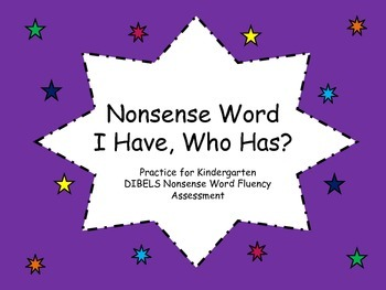 Nonsense Word I Have Who Has